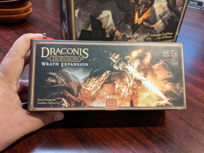 The box for Draconis Invasion: Wrath Expansion