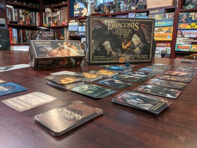 A game of Draconis Invasion with Wrath set up to play.