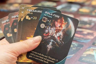 A hand of cards from a game of Draconis Invasion Wrath