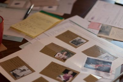 """The """"corkboard"""" for taking notes in The Maplebrooke case"""