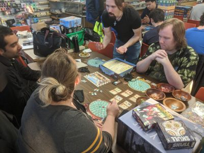 The Quacks of Quedlinburg being played at a local game store.