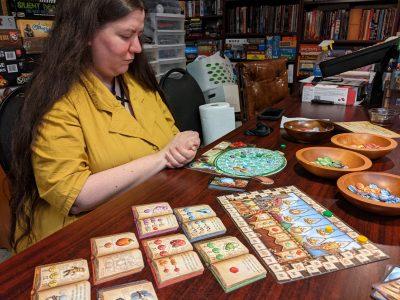 Deanna isn't happy with this round of The Quacks of Quedlinburg
