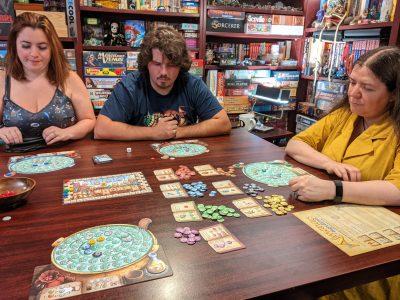 A four player game of The Quacks of Quedlinburg